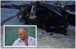Elicopterul unui milionar timișorean, distrus de vânt pe o pârtie de schi