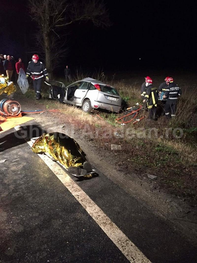Șoferul de 19 ani care a provocat accidentul de pe DN79 a murit vineri dimineața