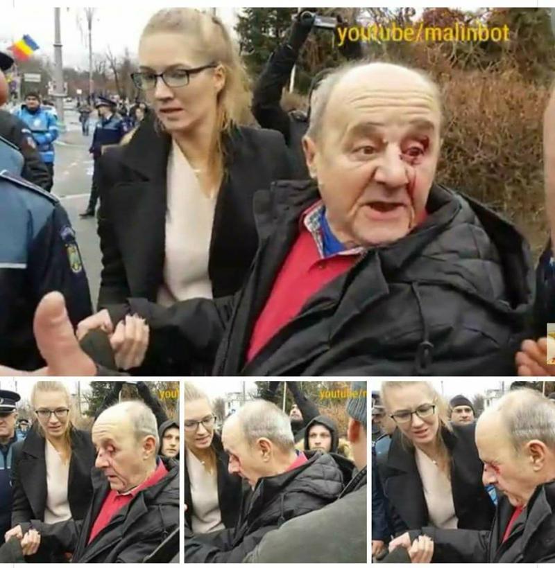 Imagini inedite! Află cine este bătrânul rănit din Piaţa Victoriei şi cum a reuşit să agite spiritele în întreaga ţară