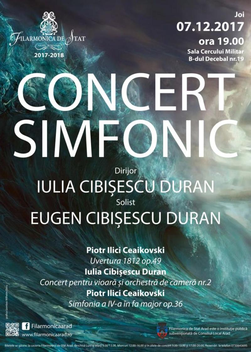 Concert simfonic de excepţie susţinut de Filarmonica de Stat din Arad