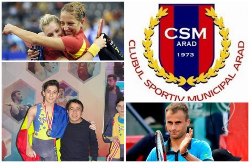 CSM Arad și-a desemnat primii 10 sportivi ai anului! Peste 200 de medalii obţinute de clubul arădean în 2017!