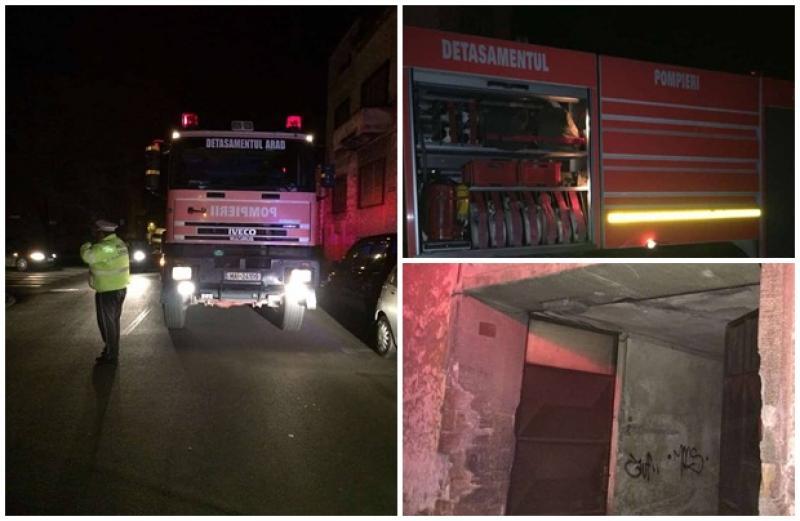 Incendiu pe Strada Episcopiei! Pompierii şi salvarea au intervenit de urgenţă