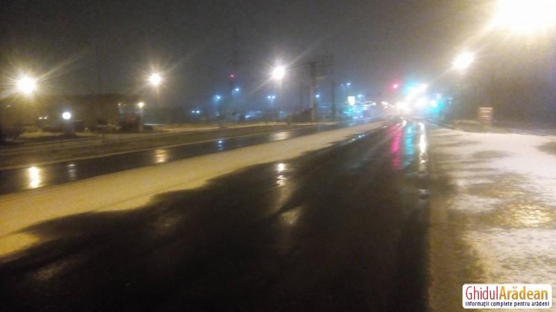 Prima ninsoare şi primul test pentru noua firmă de salubrizare stradală din Arad