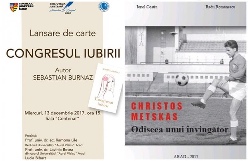 """Dublu eveniment cultural la Biblioteca Județeană """"Alexandru D. Xenopol"""" Arad"""
