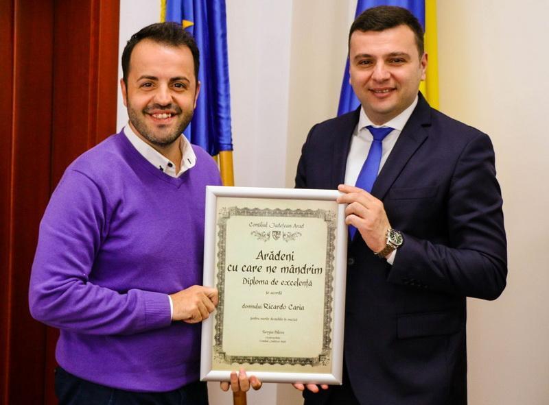 Aradul se mândreşte cu un portughez: Ricardo Caria!