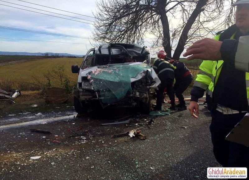 ACCIDENT MORTAL pe drumul ce leagă Aradul de Oradea