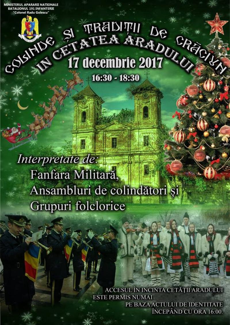Colinde şi tradiţii de Crăciun în Cetatea Aradului