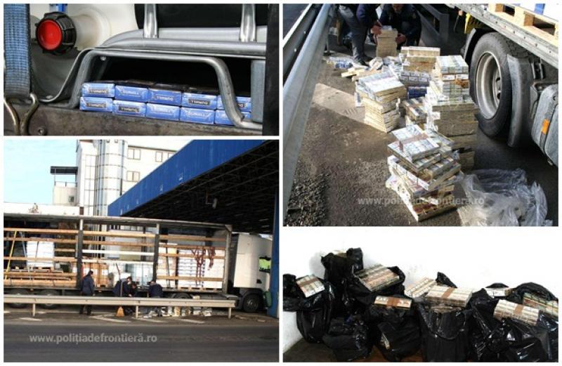 Captură record de ţigări de contrabandă, confiscată la frontiera Nădlac