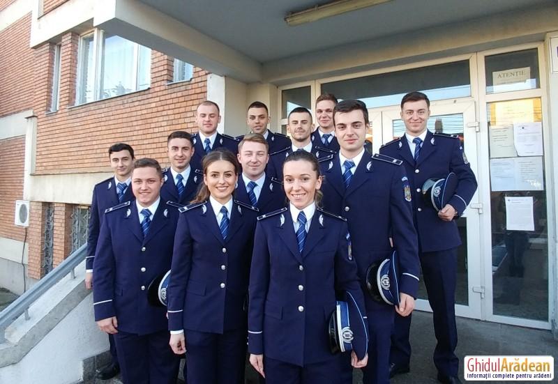 Porţile I.P.J. Arad s-au deschis pentru 12 noi poliţişti