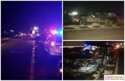 Impact violent la ieşirea din Arad spre Livada! Şoferul a scăpat ca prin minune după ce a spulberat un parapet de protecţie