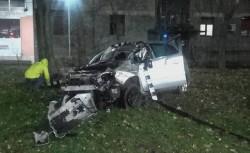 Accident rutier în zona gării din Arad. Şoferul a ajuns în stare gravă la spital