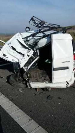 Accident rutier pe autostrada A1 Arad-Timișoara