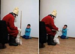 Caz şocant în România! Copil traumatizat de iubitul mamei costumat în Moş Nicolae!