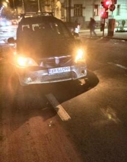 Seara accidentelor rutiere. Un alt accident rutier pe Dragalina colț cu Bălcescu