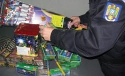 Peste 1.700 de artificii și petarde, confiscate de polițiștii din Chișineu-Criș