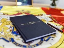 Carte de condoleanțe în memoria Regelui Mihai, în sala Regele Ferdinand