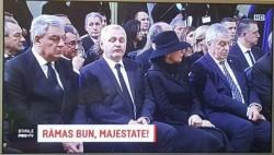 """Lupta cu statul paralel i-a obosit pe """"monarhiștii"""" Dragnea și Tăriceanu imagini grăitoare de la înmormântarea Regelui Mihai"""