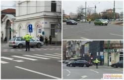 Cele mai aglomerate intersecţii din Arad, dirijate de către Poliţia Locală, în perioada sărbătorilor de iarnă