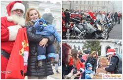 La Arad, Moş Crăciun a venit pe motocicletă!