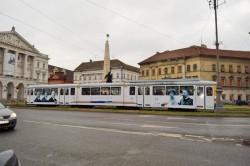 Primul tramvai dedicat Centenarului Marii Uniri, în circulație, în municipiul Arad
