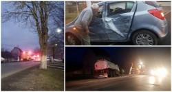 Accident cu victimă încarcerată pe strada 6 Vânători