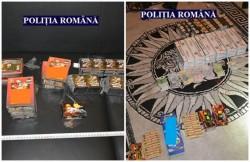 Ţigări de contrabandă şi petarde, descoperite la Sântana, în urma unor percheziţii domiciliare