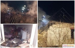 O familie din Turnu a rămas pe străzi după ce locuinţa le-a fost mistuită de un incendiu