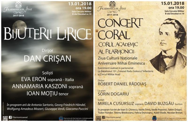 Medalion liric pentru publicul Arădean. Concerte de excepţie susţinute de Filarmonica de Stat din Arad