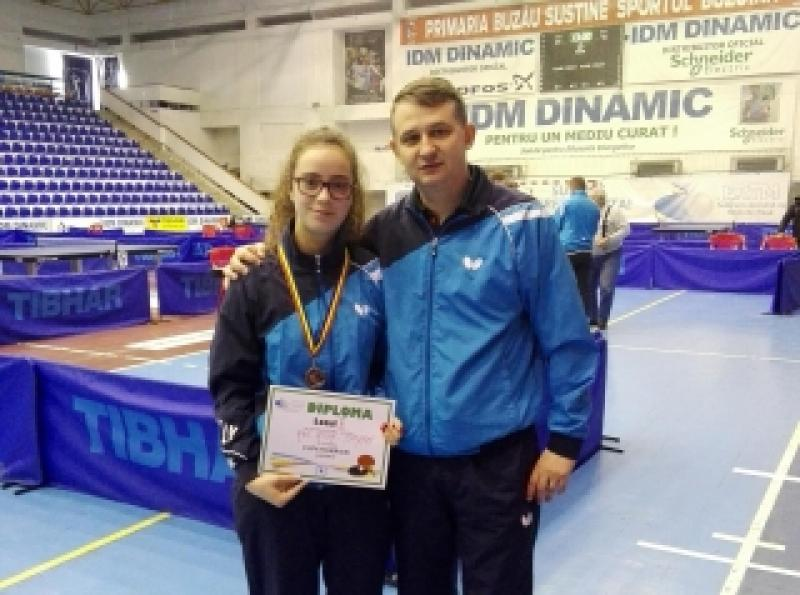 Bronz pentru Irina Rus şi CSM Arad, în cadrul Cupei României la tenis de masă