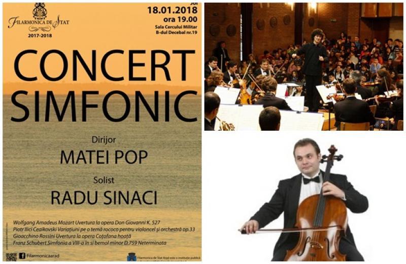 Dirijorul Matei Pop şi violoncelistul arădean Radu Sinaci revin pe scena Filarmonicii de Stat, în faţa publicului arădean