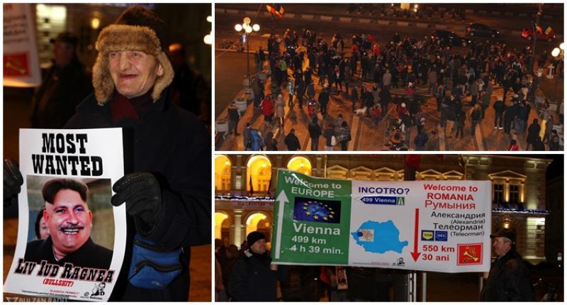 Arădenii s-au alăturat protestelor din toată ţara împotriva modificărilor dorite de guvernarea PSD la legile jurtiţiei