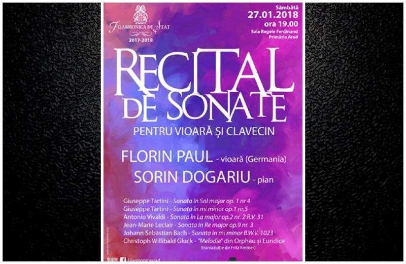 Recital cameral de muzică barocă în Sala Ferdinand