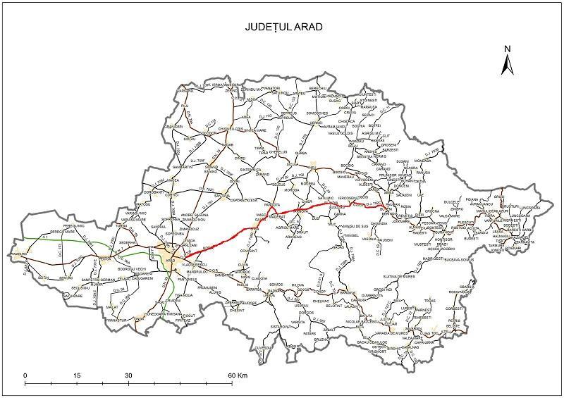 Cel mai important drum judeţean al Aradului, tronsonul Arad-Şiria-Pâncota-Buteni, va fi modernizat din fonduri europene
