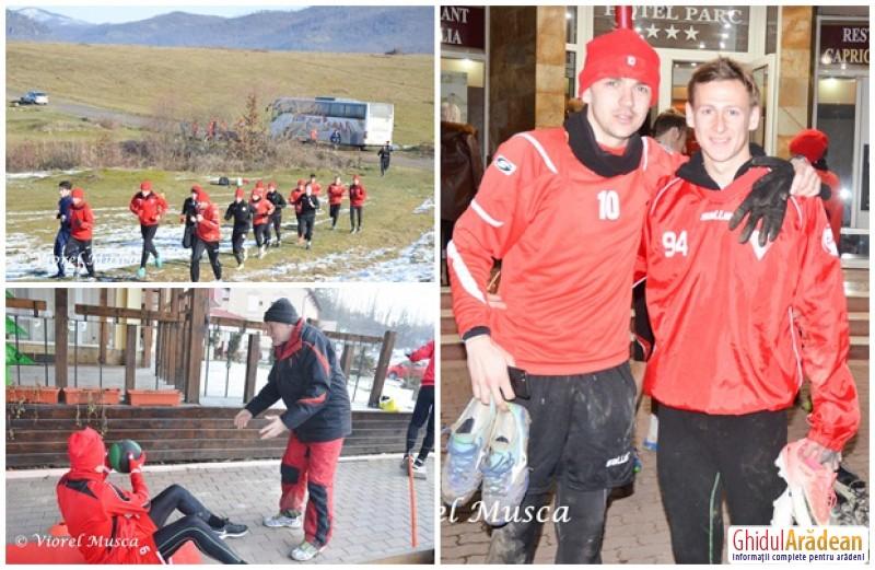 Cantonamentul spartan al UTA-ei s-a încheiat cu un amical pierdut împotriva echipei Gloria Lunca Teuz din Cermei