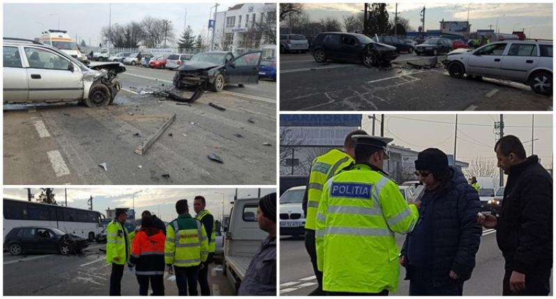 Grav ACCIDENT cu victime în fața la RAR! Două autoturisme s-au ciocnit frontal!