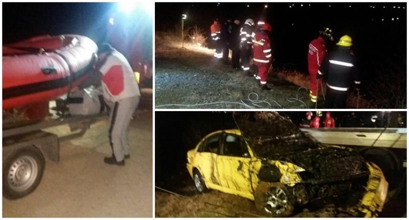 Sinucidere sau accident? Un arădean a ajuns cu maşina în lacul Ghioroc!