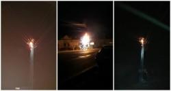 Prima zi din an a adus locuitorilor din Buteni o pană de curent. Un transformator a luat foc!