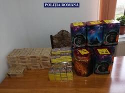Artificii confiscate de polițiștii arădeni