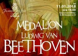 Medalion Ludwig Van Beethoven la Filarmonica din Arad