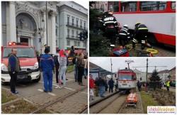 Incident îngrozitor în centrul Aradului. O fetiţă de 12 ani care a traversat neregulamentar, a ajuns sub roţile unui tramvai