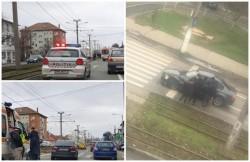 Accident rutier pe calea Iuliu Maniu. O femeie rănită a ajuns la spital