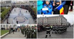 Arădenii au marcat 159 de ani de la  Unirii Principatelor ROMÂNE pe platoul din faţa Primăriei