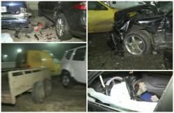 Un poliţist local s-a urcat băut la volan şi a distrus 5 mașini, în cartierul Gai