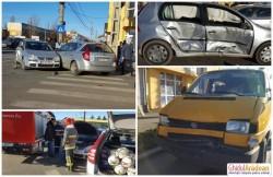 ACCIDENT rutier cu trei autoturisme implicate, pe strada Pădurii! Unul dintre şoferi a părăsit locul faptei