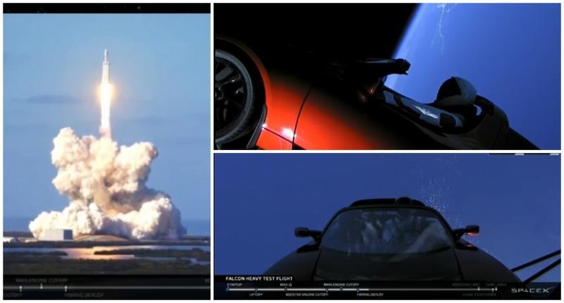 SpaceX a intrat în istorie! Falcon Heavy, cea mai puternică rachetă din lume a ajuns în spațiu!