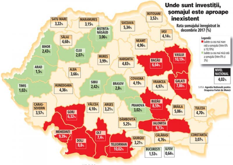 Aradul, în topul judeţelor cu cel mai scăzut şomaj din ţară