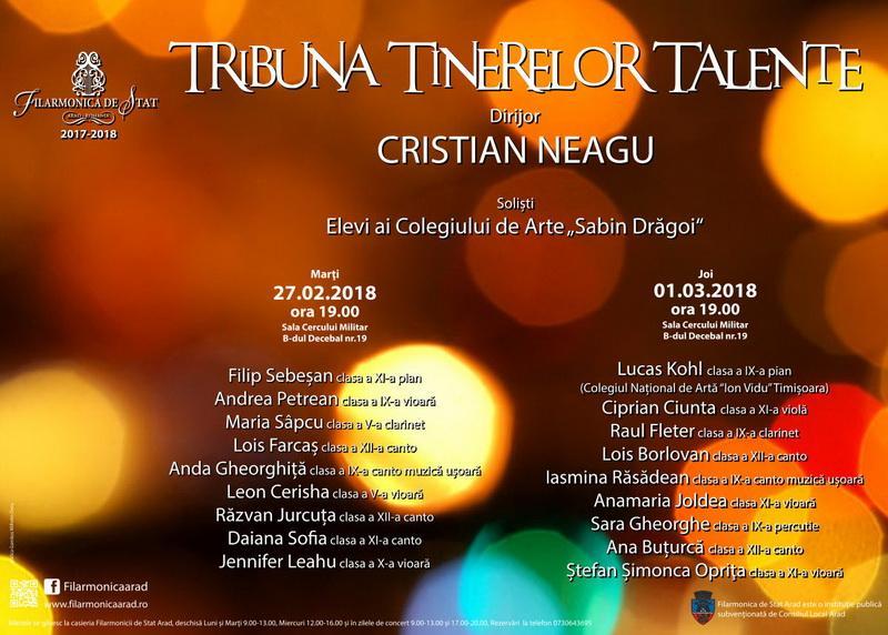 Tribuna Tinerelor Talente la Filarmonica din Arad