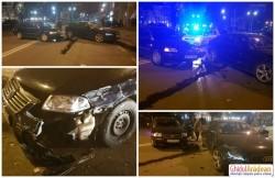 """Circulaţie blocată la Podgoria, din cauza unei """"întâlniri"""" nefericite între două şoferiţe"""