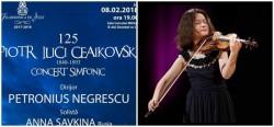 Ceaikovski  omagiat de violonista Anna Savkina alături de Filarmonica din Arad – Afiş Eveniment