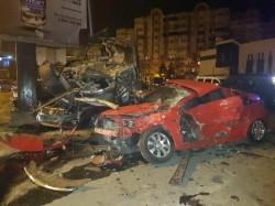 Dezastru provocat de o șoferiță din cauza vitezei! 10 maşini făcute PRAF!